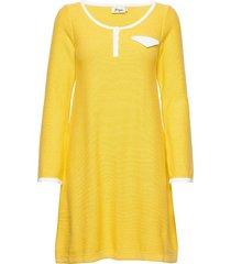 britt knälång klänning gul jumperfabriken