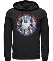 marvel men's avengers endgame whatever it takes fist bump, pullover hoodie