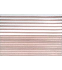 jogo americano textilene 45 x 30cm casual bege
