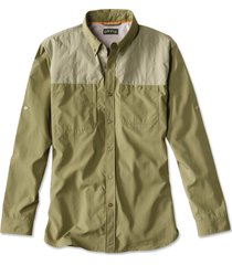 synthetic featherweight shooting shirt, olive/sand, medium