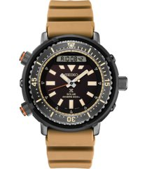 seiko men's solar analog-digital prospex silicone strap watch 47.8mm