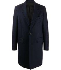 ami paris single-breasted mid-length coat - blue
