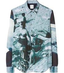 slim-fit 'paul's photo' print shirt