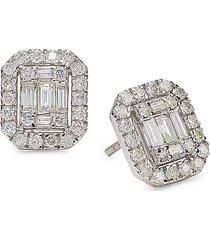 diana m jewels women's 14k white gold & 0.75 tcw diamond stud earrings