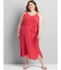 lane bryant women's ribbed twisted-strap midi dress 30/32 azalea