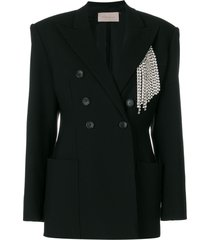 christopher kane crystal tailored jacket - black