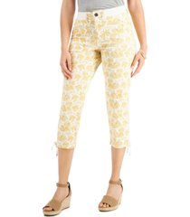 style & co printed capri pants, created for macy's
