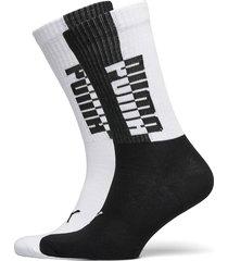 puma men seasonal sock 2p underwear socks regular socks svart puma