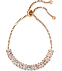 inc baguette crystal slider bracelet, created for macy's