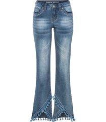 jeans a zampa con decorazioni (blu) - rainbow