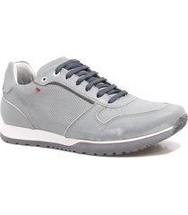 sapatênis zariff shoes casual couro cinza
