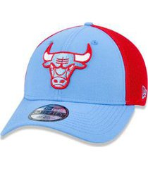 bone 39thirty nba chicago bulls city series aba curva azul/vermelho new era