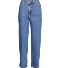 trousers hanna retro blue jeans mom jeans blå lindex