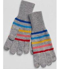 guantes rayados mujer gris gap