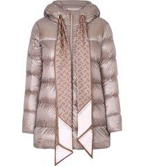 herno scarf insert jacket
