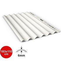 telha fibrocimento branca top confort 6mm 183x110cm - brasilit - brasilit