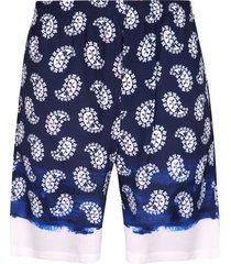 msgm printed viscose bermuda-shorts