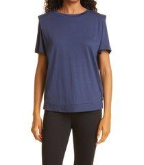 women's ted baker london women's structured shoulder t-shirt, size 0 - blue