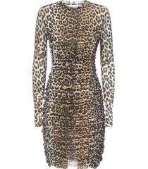 ganni leopard dress
