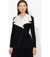 proenza schouler double lapel blazer black/off white 6