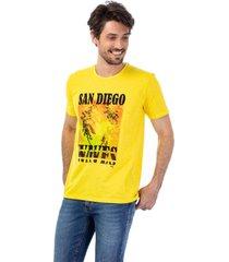 camiseta masculina careca san diego amarelo - amarelo - masculino - dafiti