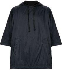 juun.j oversized raglan hoodie - black