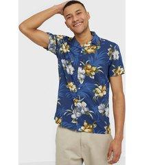 premium by jack & jones jprdale resort shirt s/s one pocket skjortor mörk blå
