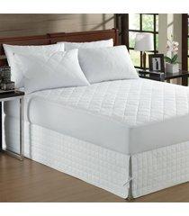 capa protetora de colchão impermeável king matelasse branco - bene casa