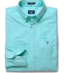 gant oxford overhemd turquoise