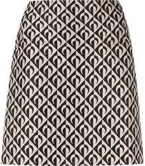 marine serre geometric-logo print mini skirt - black