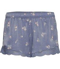 satin lace shorts shorts blå gilly hicks