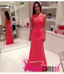 coral prom dress,mermaid dress,evening dresses,new sexy fashion prom gown r329