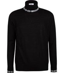 gcds turtleneck logo sweater