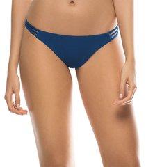 panty vestido de baño con detalles laterales azul kibys