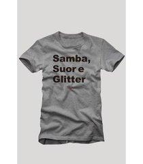 camiseta reserva samba, suor e glitter masculina - masculino