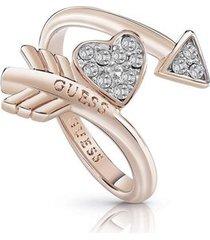 anillo guess cupid/ubr85014-54 - oro rosa
