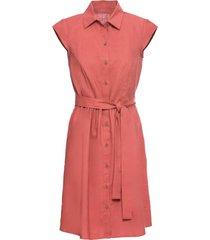 abito in misto lino con bottoni (rosso) - bodyflirt