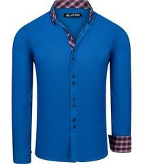 one redox roman heren overhemd sax blauw