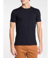camiseta mc slim basic bolso sustainable - preto - ggg