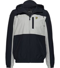 colour block zip through jacket dun jack blauw lyle & scott