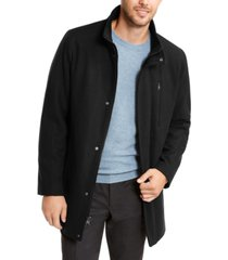 calvin klein men's long open bottom overcoat, created for macy's