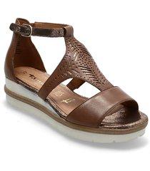 woms sandals shoes summer shoes flat sandals beige tamaris