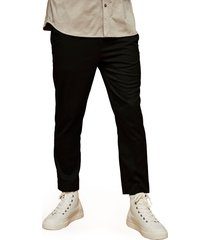 men's topman slim fit crop drawstring pants, size 34 x 30 - black