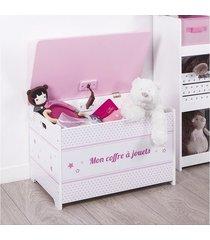 skrzynia siedzisko na zabawki kufer różowy
