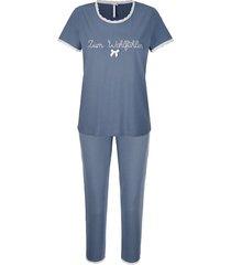 pyjama louis & louisa rookblauw::wit