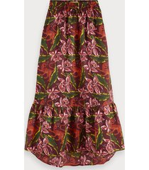 scotch & soda printed maxi skirt