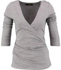 supertrash stevig grijs stretch shirt 3/4 mouw