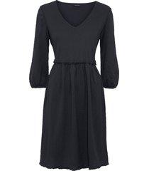bellissimo abito di jersey con arricciature in vita. (nero) - bodyflirt