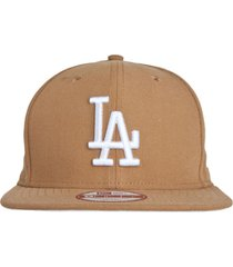 boné new era 950 of sn basic wheat log bco los angeles dodgers bege
