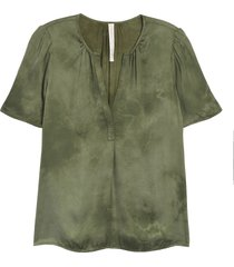 women's raquel allegra lilakoi tie dye top, size 3 - green
